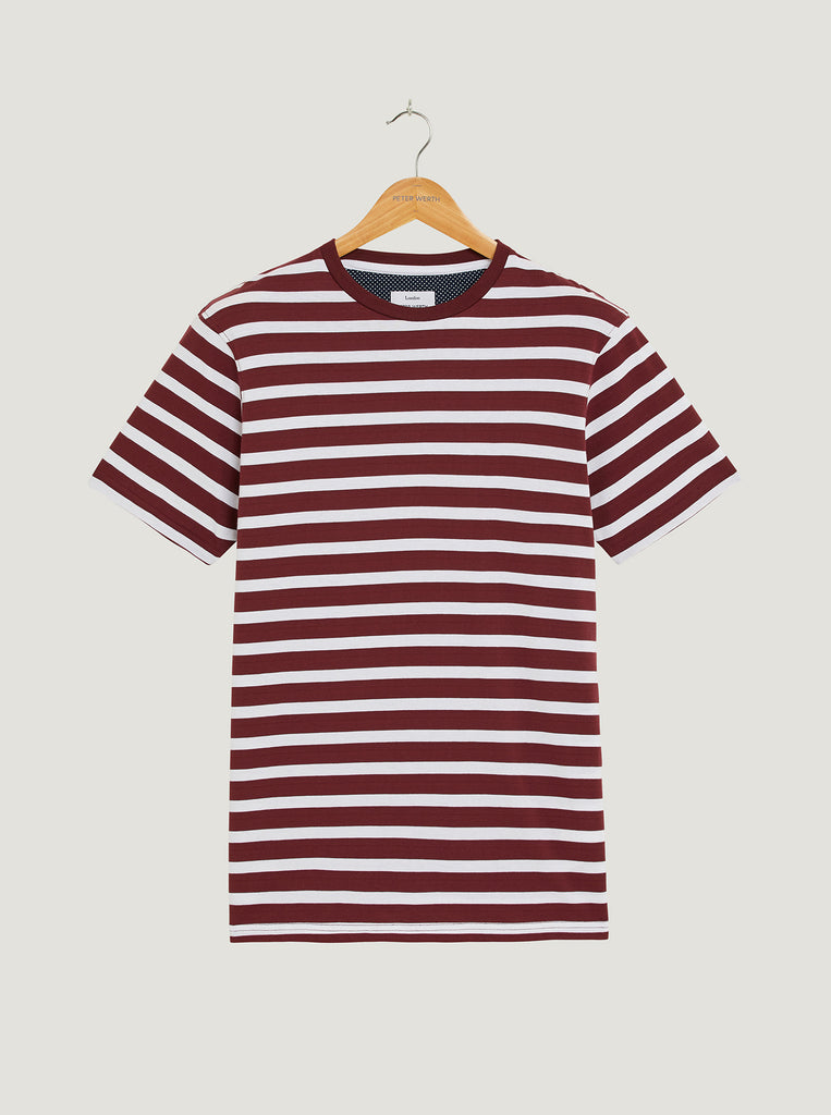 Gibson T-Shirt - Burgundy/White
