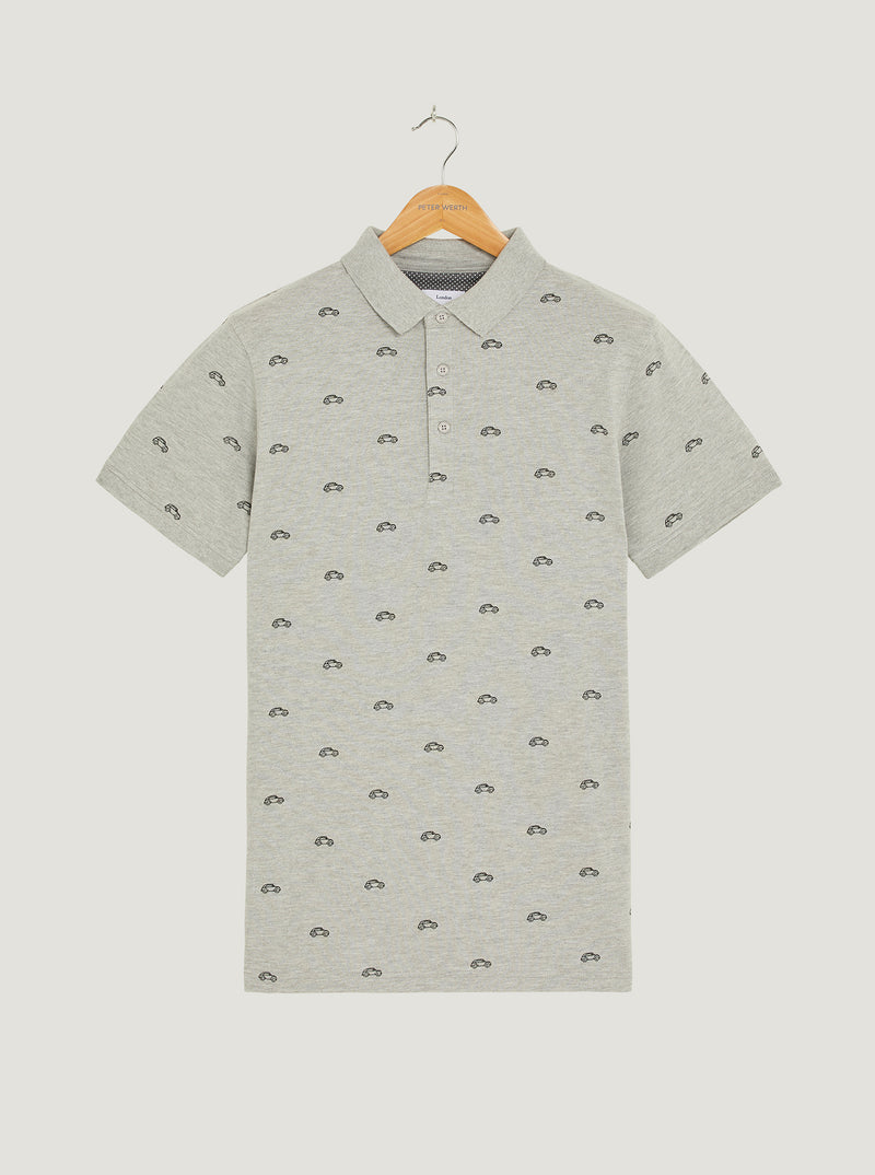 Morris Polo - Grey Marl
