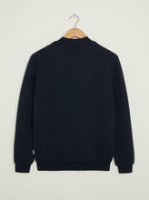 Load image into Gallery viewer, Hackney Textured Bomber Jacket - Navy