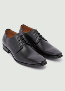 Chisel Derby Shoes - Black