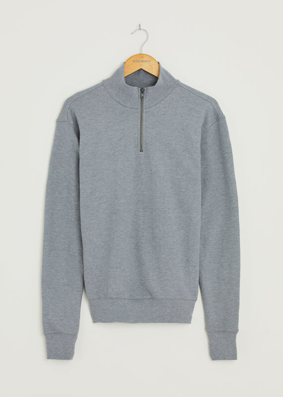 Queensbury 1/4 Zip Jumper - Grey Marl