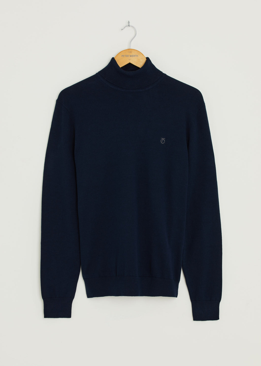 Wright Roll Neck Jumper - Navy