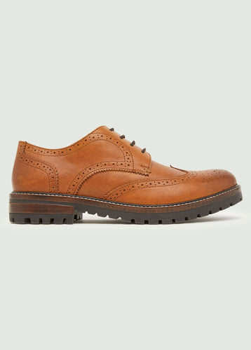 Archer Brogue Shoe - Tan