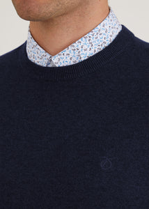 Bailey Crew Neck Jumper - Navy