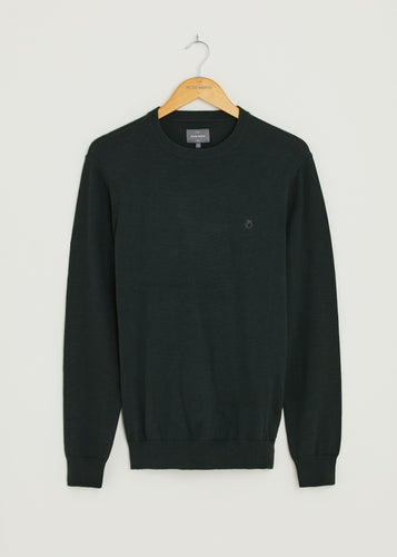 Bailey Crew Neck Jumper - Dark Green