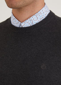 Bailey Crew Neck Jumper - Charcoal