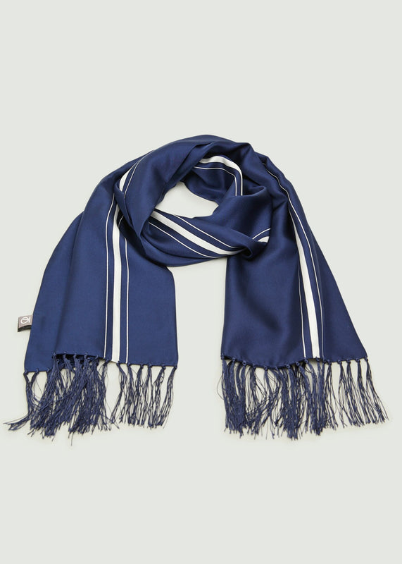 Benyon Stripe Scarf - Blue