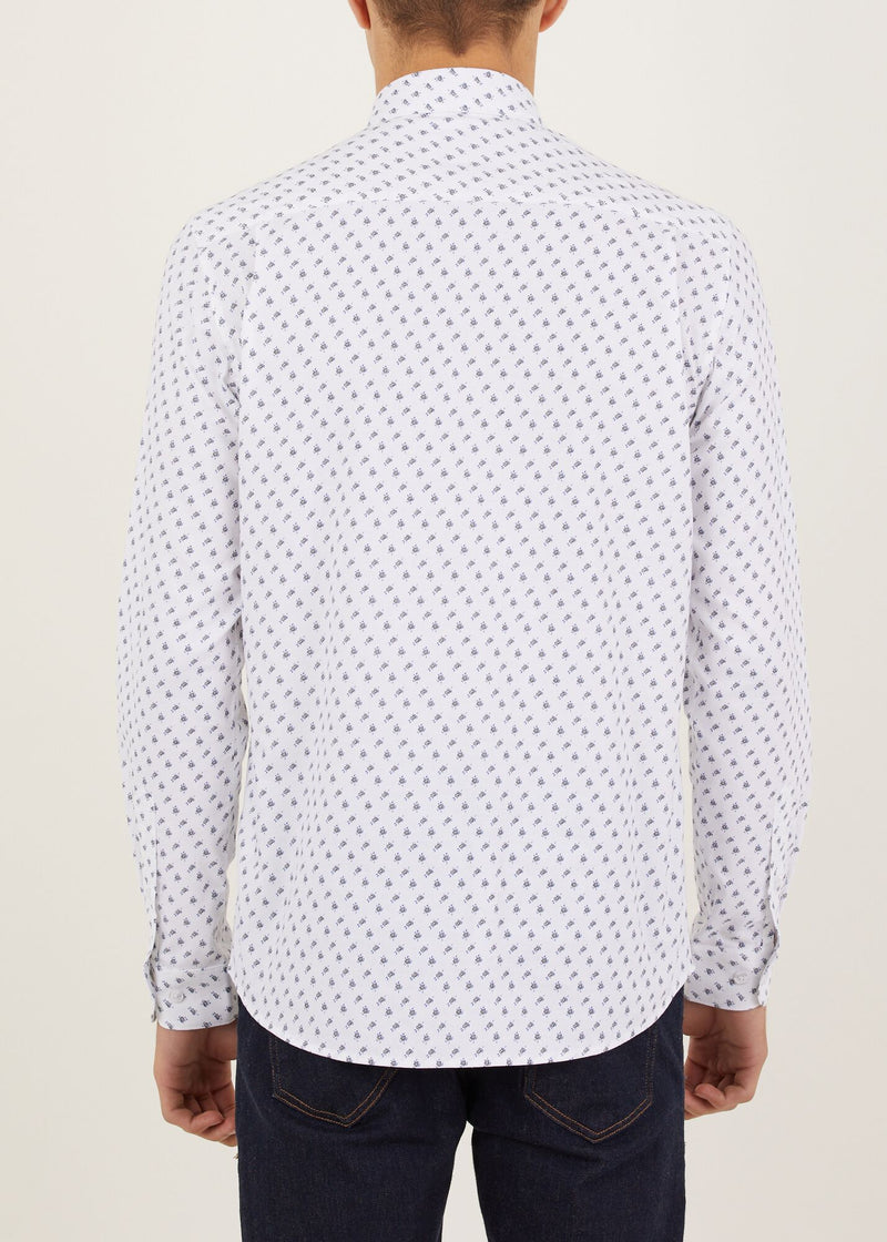 Cannon Long Sleeved Shirt - White