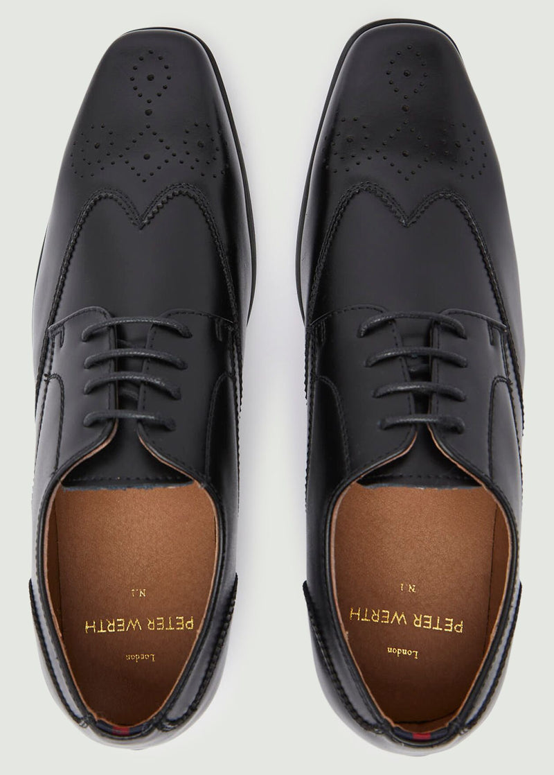 Carter Brogue Shoes - Black