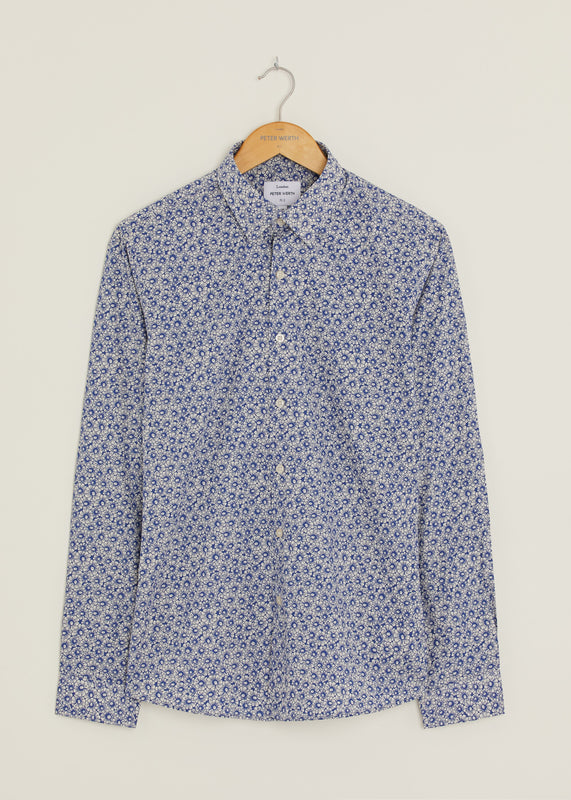 Carter Long Sleeved Shirt - Blue