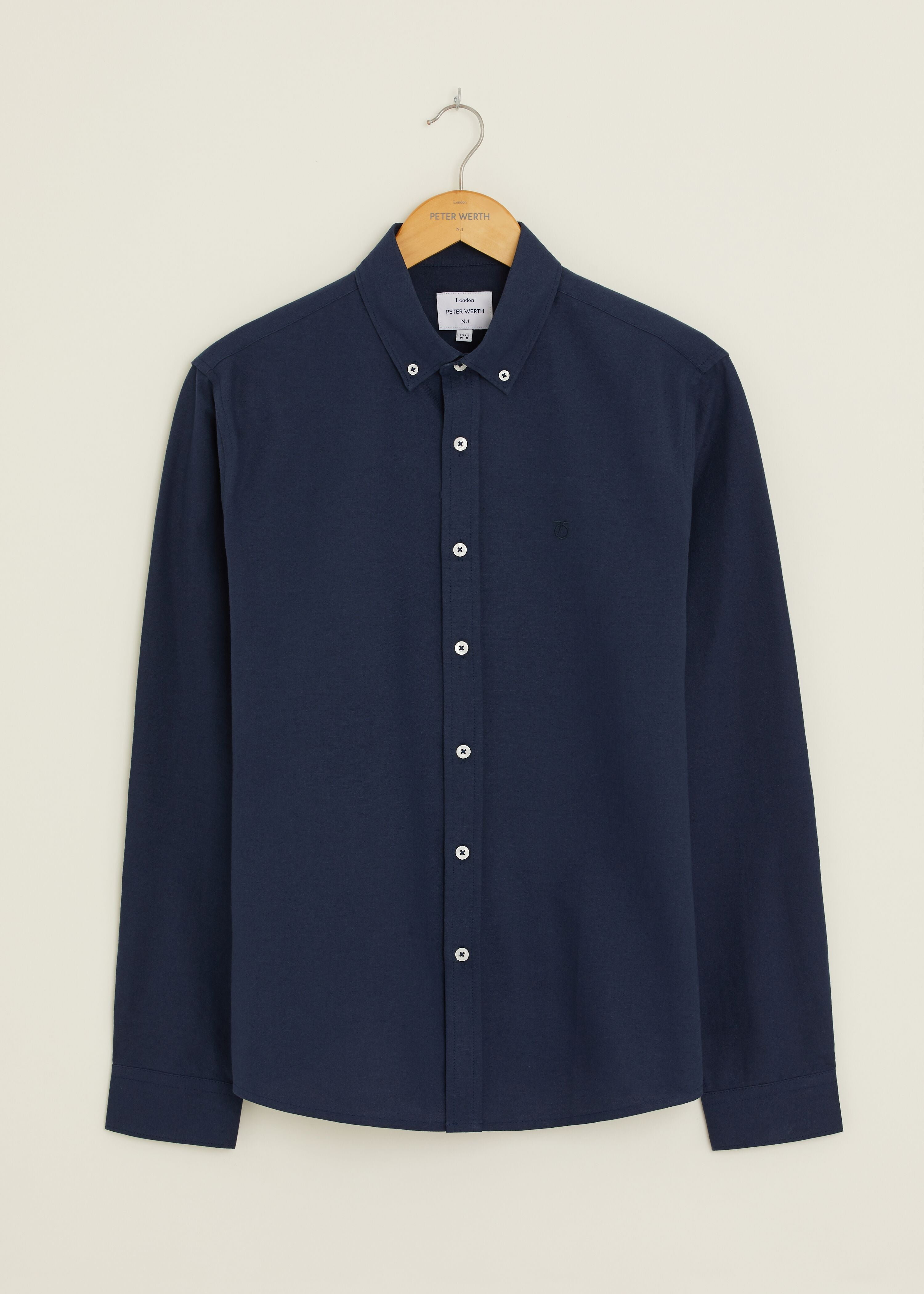 Castle Oxford Long Sleeve Shirt - Navy