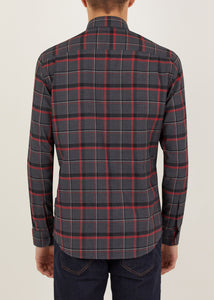 Cornwallis Long Sleeved Shirt - Grey/Red