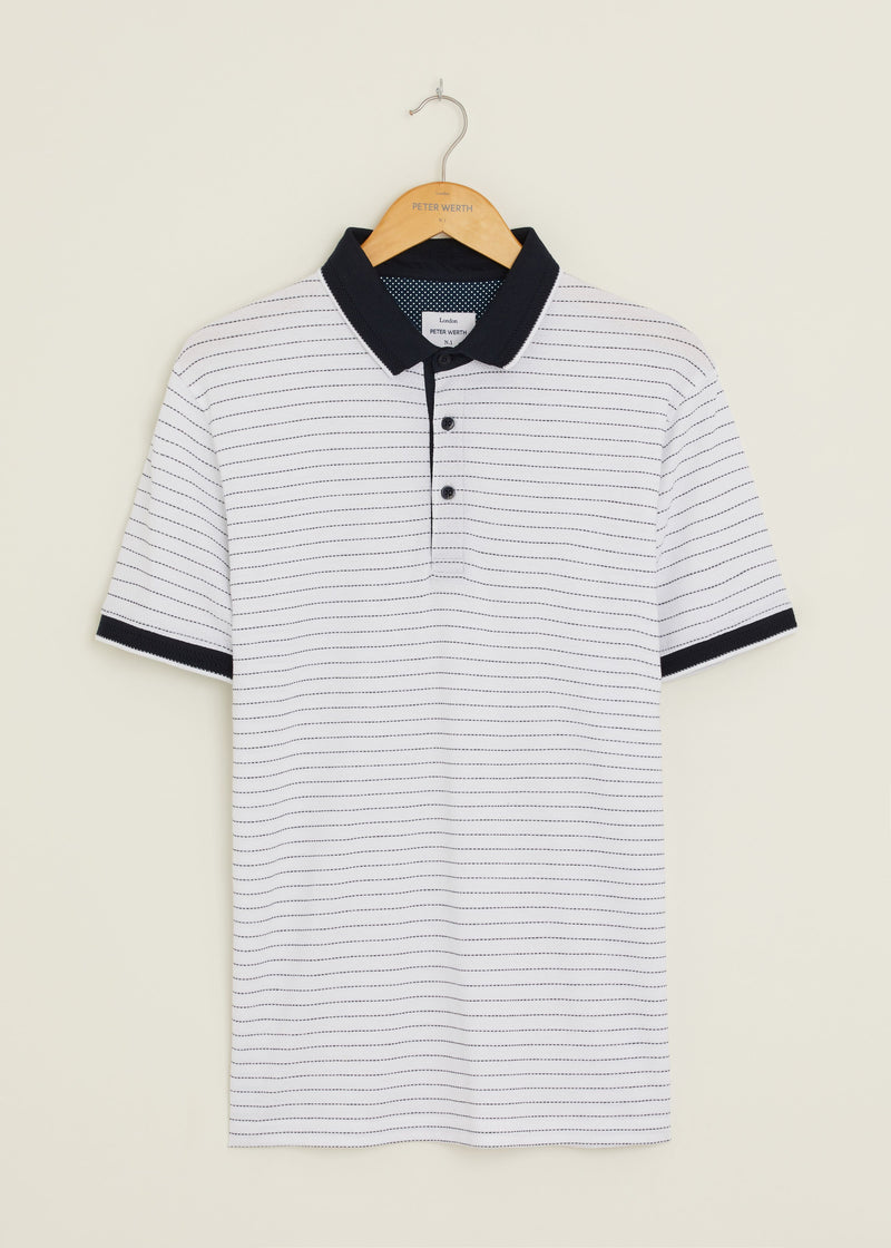 Davisville Polo Shirt - White/Navy
