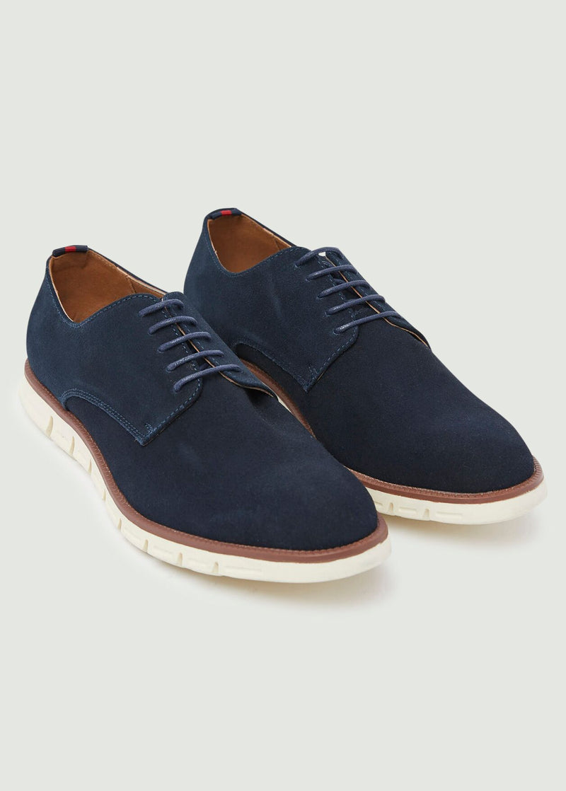 Drydon Casual Derby Shoes - Navy
