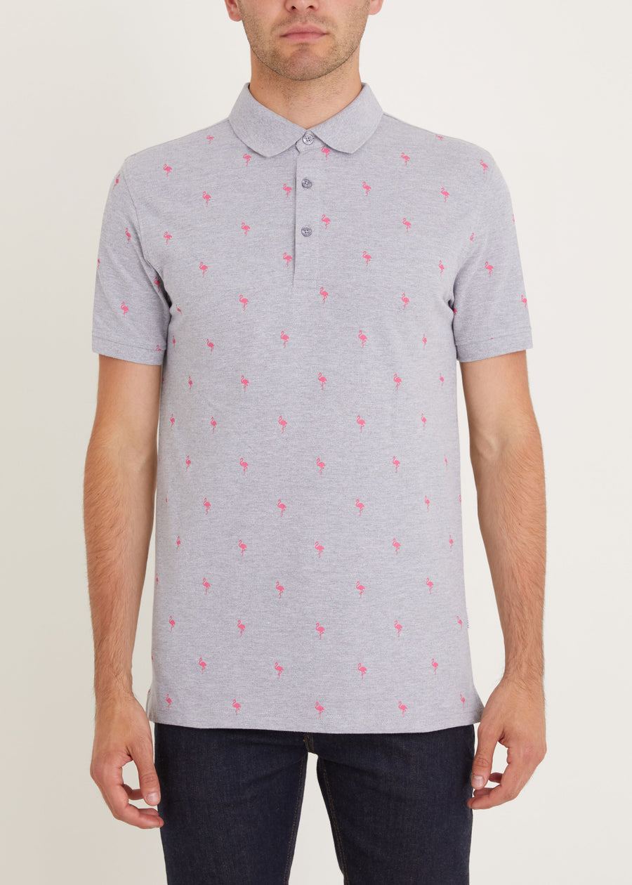 Fandango Polo Shirt - Grey Marl