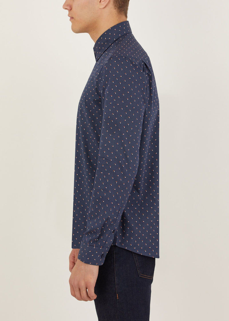 Ferris Long Sleeved Shirt - Navy