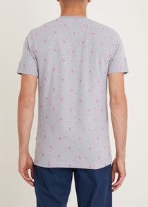 Flamingo T-Shirt - Grey Marl