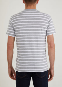 Gibson T-Shirt - Grey Marl/White