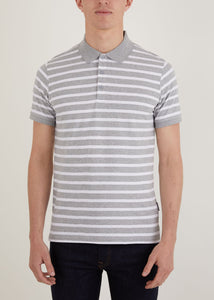 Gresley Polo Shirt - Grey/White