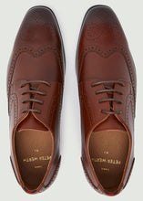 Load image into Gallery viewer, Harrison Round Toe Brogue Shoes - Tan