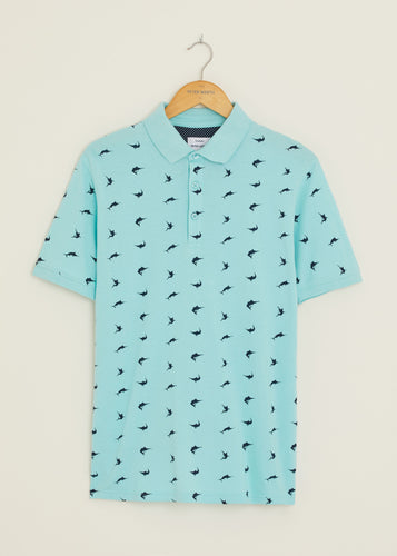 Marlin Polo Shirt - Light Blue