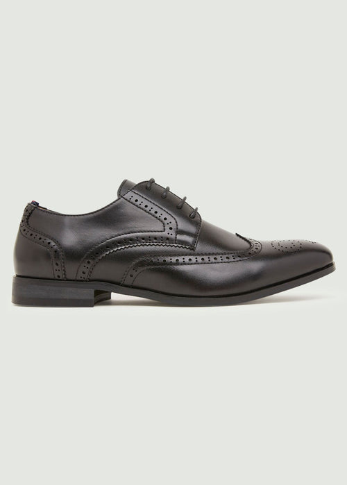 Mavon Wing Tip Brogue - Black