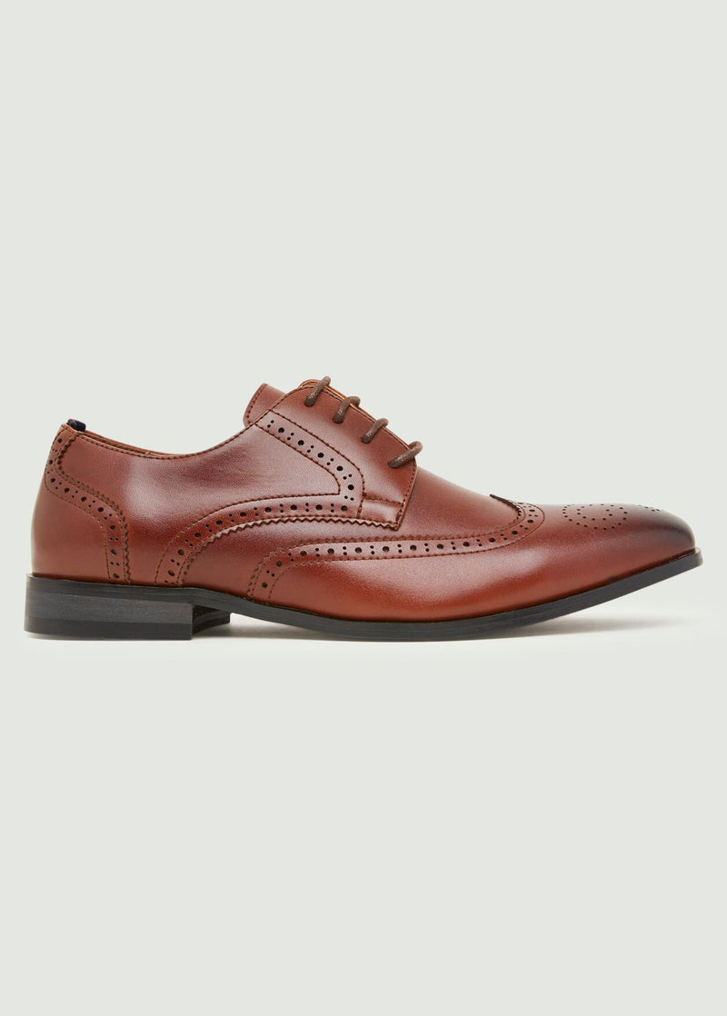 Mavon Wing Tip Brogue - Tan