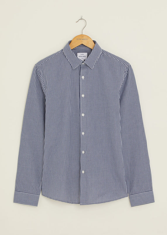 Moat Long Sleeved Shirt - Navy