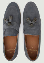 Load image into Gallery viewer, Moorhouse Tassle Suede Loafers - Grey