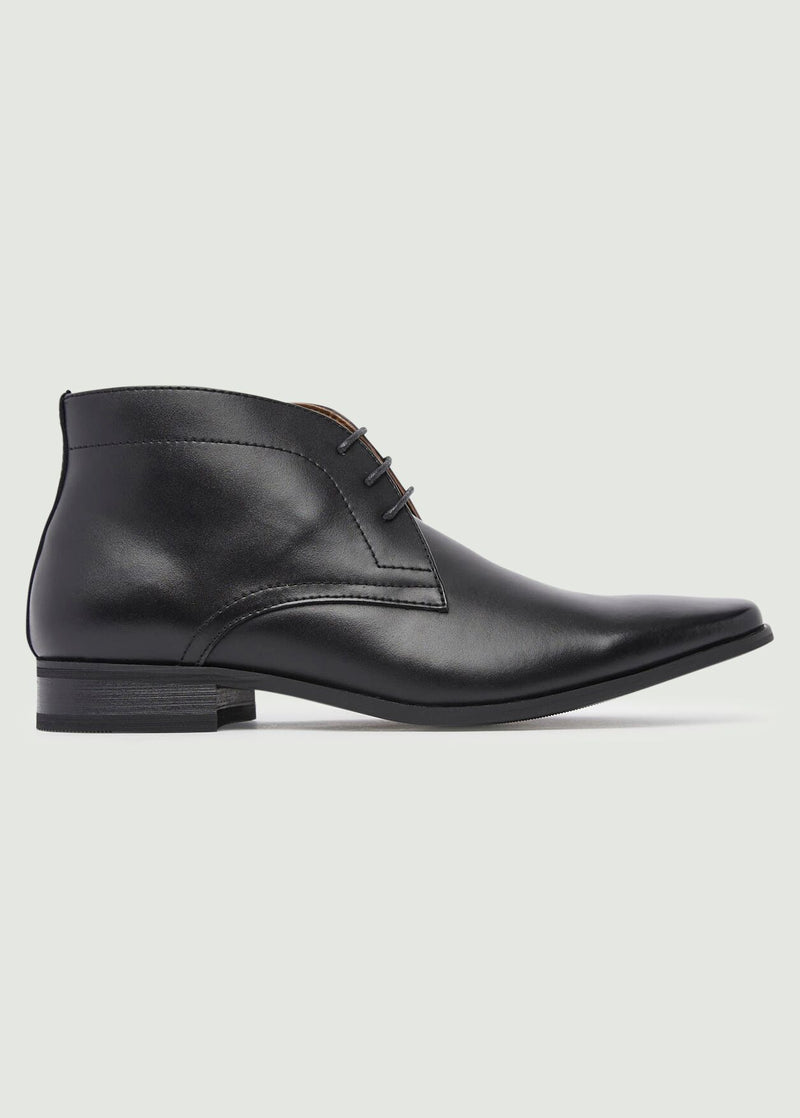 Newton Leather Boots - Black
