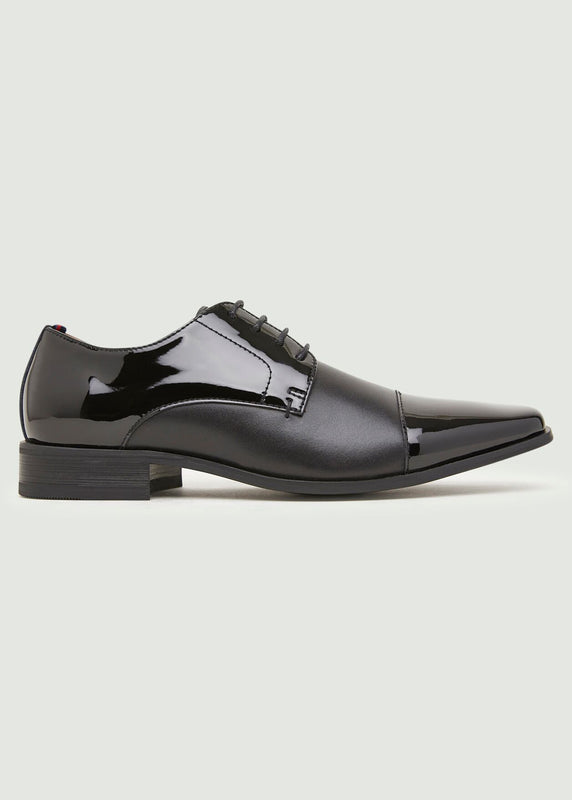 Novice Chisel Derby Shoe - Black