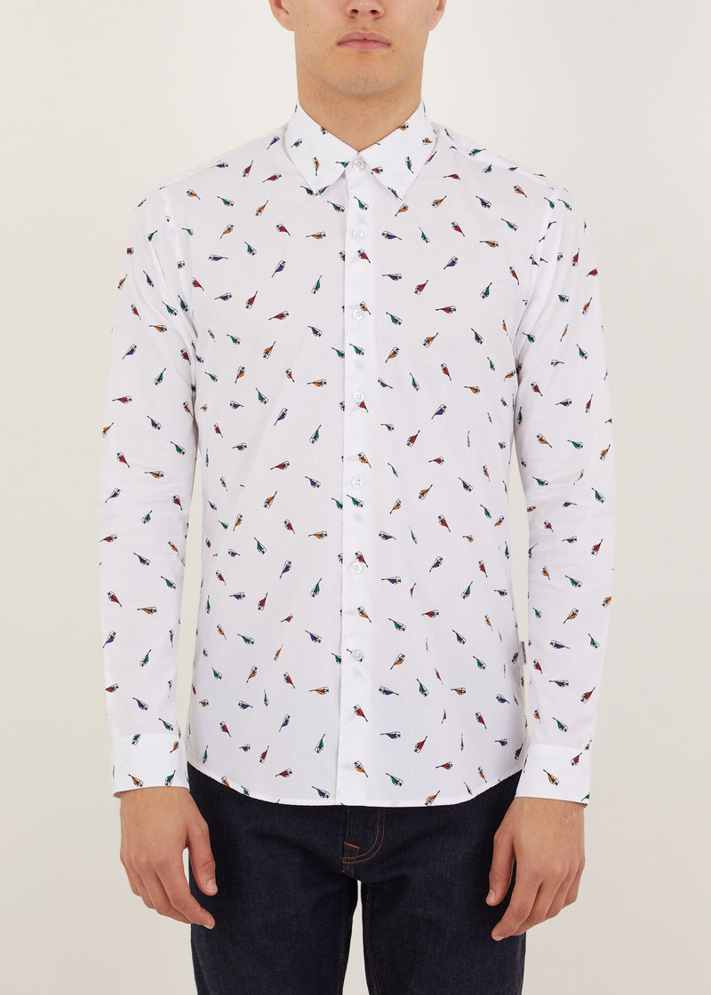Orwell Long Sleeved Shirt - White