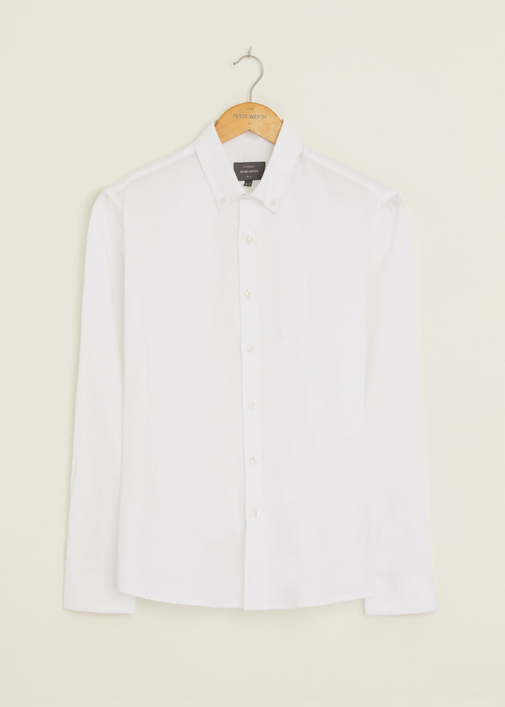 Peak Long Sleeved Shirt - White