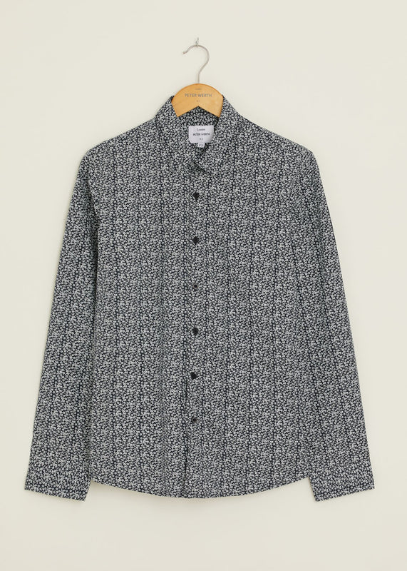 Retro Long Sleeved Shirt - Navy