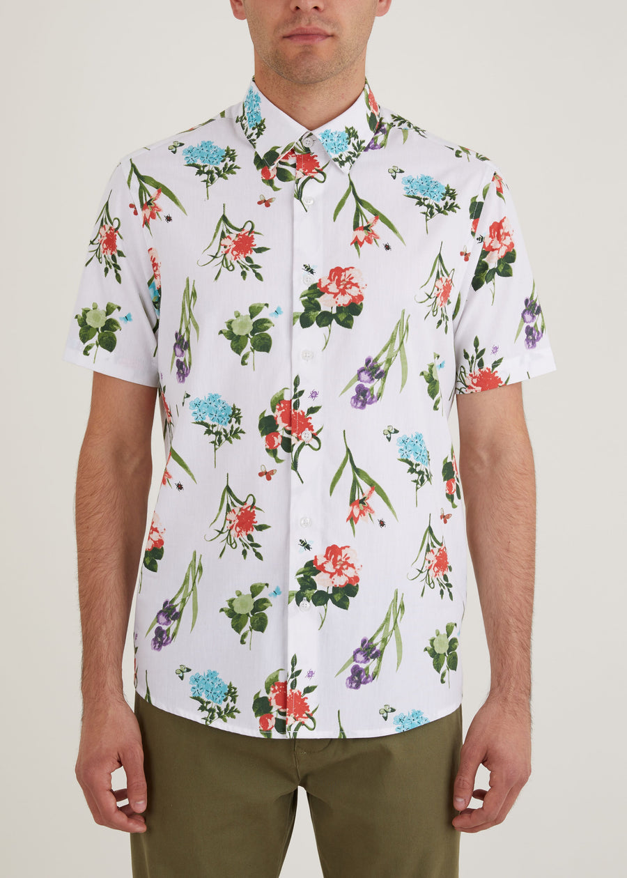 Sylvan Short Sleeve Shirt - White