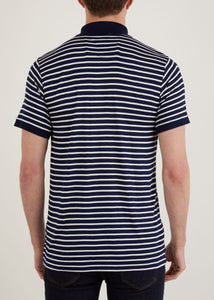 Trilby Polo Shirt  - White/Navy