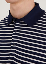 Load image into Gallery viewer, Trilby Polo Shirt  - White/Navy