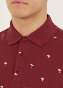 Tropic Polo Shirt - Burgundy
