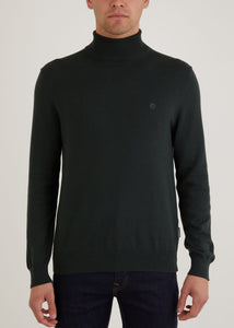 Wright Roll Neck Jumper - Dark Green