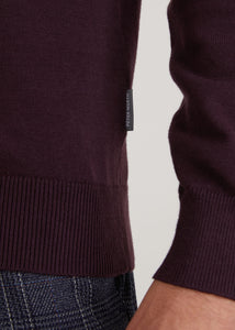 Wright Roll Neck Jumper - Burgundy