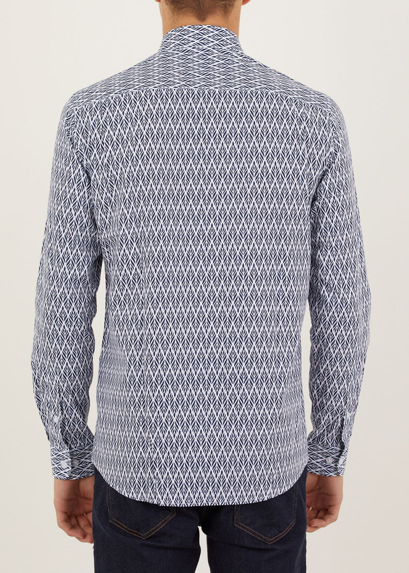 Zach Long Sleeved Shirt - Navy