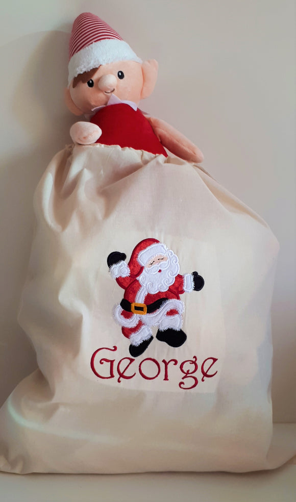 Personalised Santa Sacks now available!