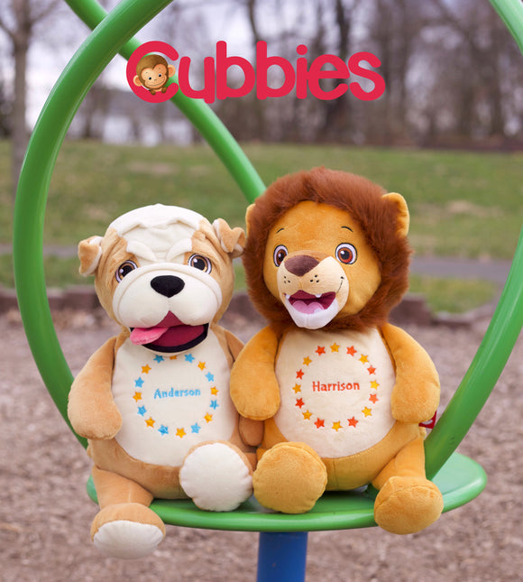Cubbies - Personalised stuffed toys.