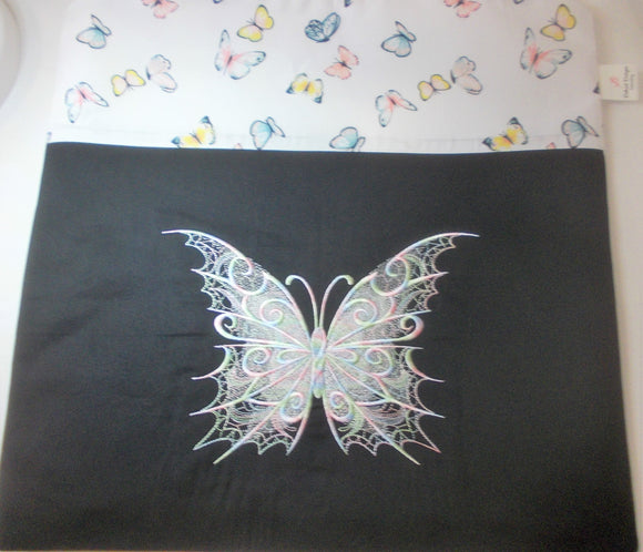 Large Craft/Cross Stitch Project Bag - Opal Butterfly