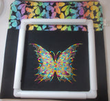 Large Craft/Cross Stitch Project Bag - Vibrant Butterfly