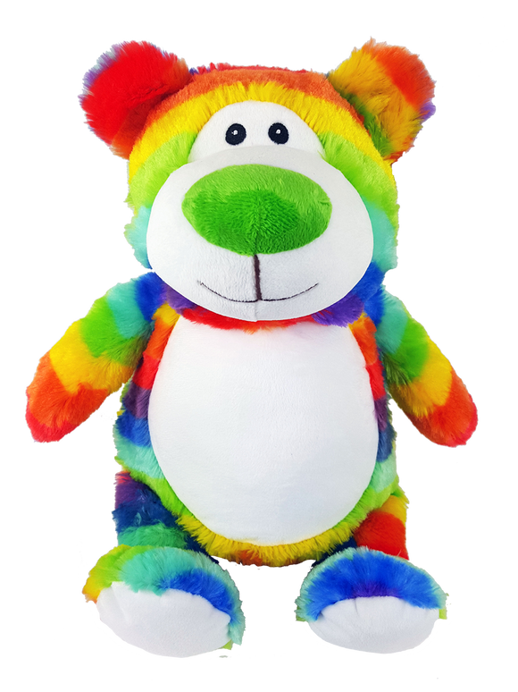 Personalised Teddy Cubby - Rainbow - NEW!