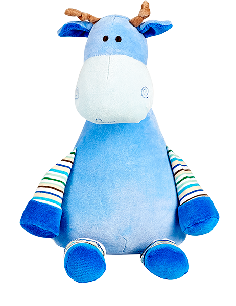 Personalised  Oeko Giraffe Cubby - Blue - Debart Designs Embroidery