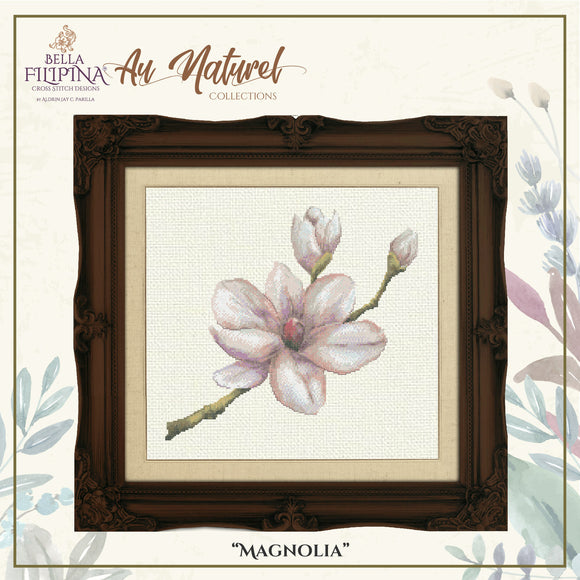 Bella Filipina Designs - Au Naturel Collections - Magnolia cross stitch chart