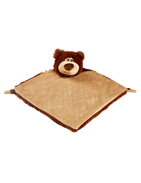 Personalised Bear Comforter - Brown - Debart Designs Embroidery