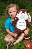 Personalised Bunny Cubby - Brown - Debart Designs Embroidery